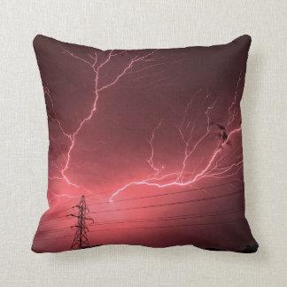Kansas Lightning Storm Throw Pillow