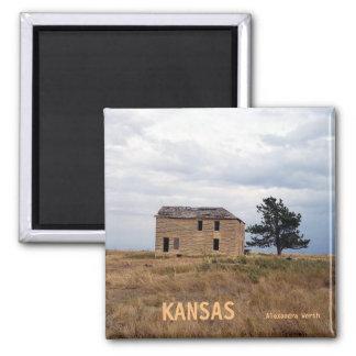 Kansas Limestone Farm House Magnet