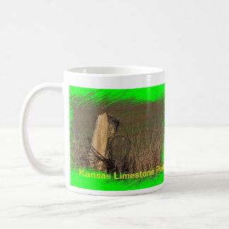 Kansas Limestone Post,  Kansas Farmland   MUG!!!! Coffee Mug