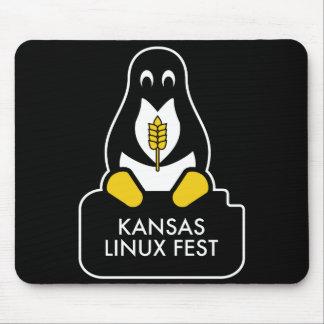 Kansas Linux Fest Mouse Pad Black