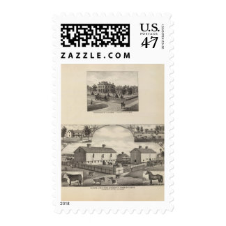 Kansas Live Stock County in Cawker City Postage