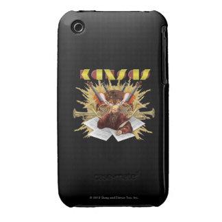 KANSAS - logotipo de la sinfonía iPhone 3 Case-Mate Coberturas