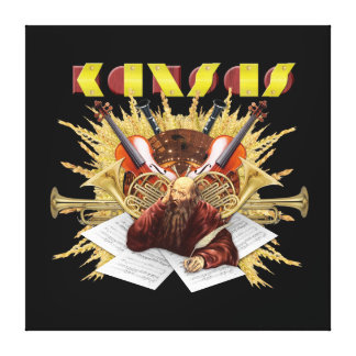 KANSAS - logotipo de la sinfonía Impresiones En Lona
