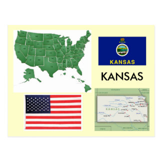 Kansas, los E.E.U.U. Postales