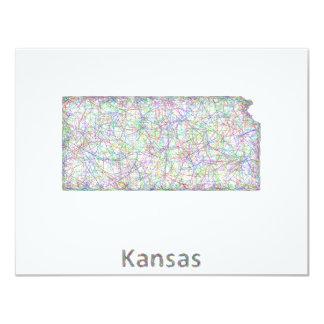 Kansas map card