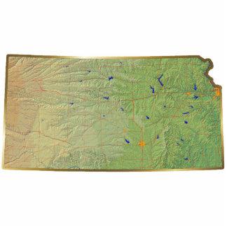 Kansas Map Magnet Cut Out