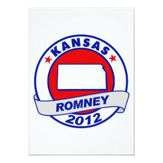 Kansas Mitt Romney 5x7 Paper Invitation Card