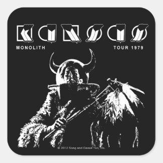 KANSAS - Monolith (1979) Square Sticker