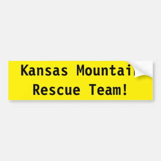 Kansas Mountain Rescue Team! Bumper Sticker