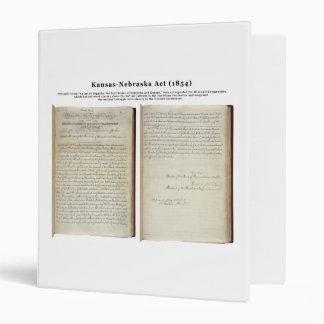 Kansas-Nebraska Act (1854) Binders