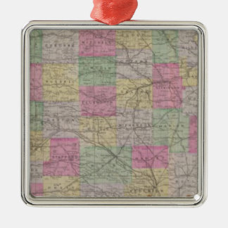 Kansas Official Topographical State Atlas Metal Ornament
