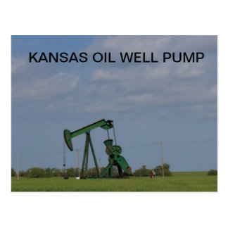 KANSAS OIL WELL PUMP Post Card
