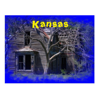 Kansas Old Abandoned House Post Card