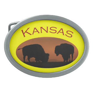Kansas Oval Belt Buckle