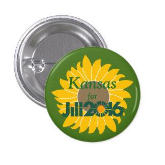 Kansas para el botón de Jill Stein Pin Redondo De 1 Pulgada