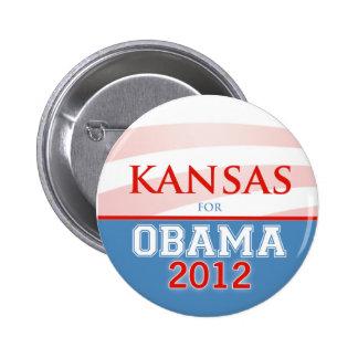 KANSAS para Obama 2012 Pin Redondo De 2 Pulgadas