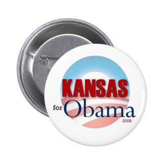 Kansas para Obama Pin Redondo De 2 Pulgadas
