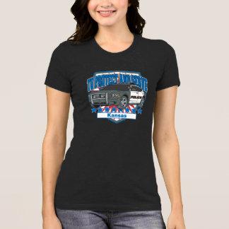 Kansas para proteger y para servir el coche patrul camisetas