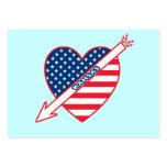 Kansas Patriot Flag Heart Business Card Templates
