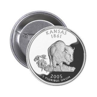 Kansas Pin Redondo De 2 Pulgadas