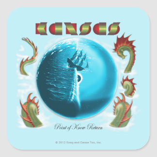KANSAS - Point of Know Return (1977) Square Sticker