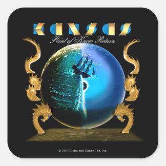 KANSAS - Point of Know Return (2007) Square Sticker