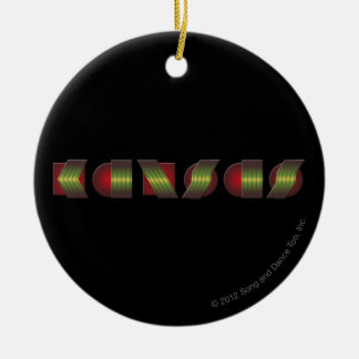 KANSAS (Point of Know Return Colors) Ceramic Ornament