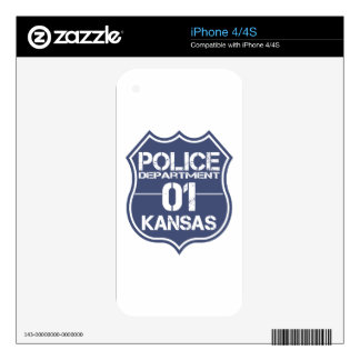 Kansas Police Department Shield 01 iPhone 4 Skin
