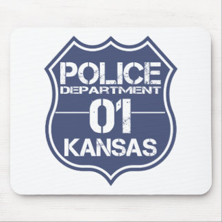 Kansas Police Department Shield 01 Mouse Pad