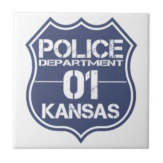 Kansas Police Department Shield 01 Tile