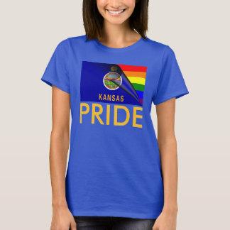Kansas Pride LGBT Rainbow Flag T-Shirt