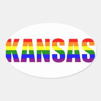 Kansas Pride Oval Sticker