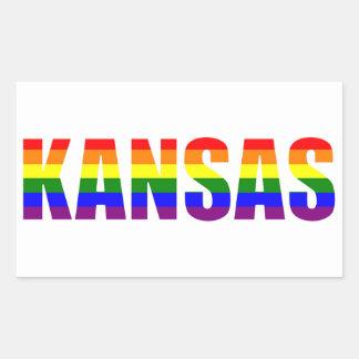 Kansas Pride Rectangular Sticker