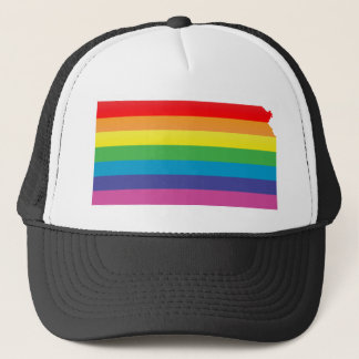 kansas pride. striped. trucker hat