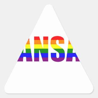 Kansas Pride Triangle Sticker
