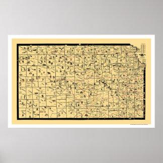 Kansas Railroad Map 1897 Posters