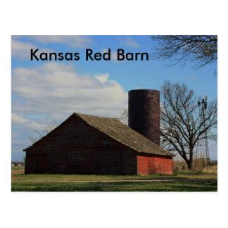 Kansas Red Barn POST CARD
