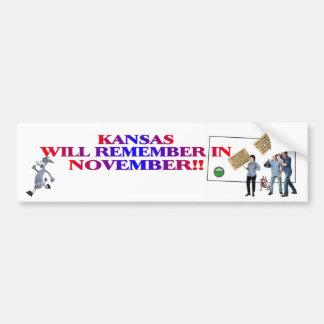 Kansas - Return Congress To The People!! Bumper Sticker