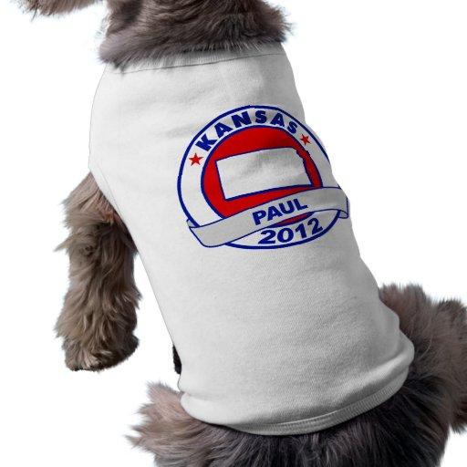 Kansas Ron Paul Dog T-shirt
