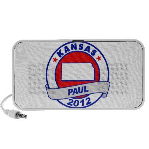 Kansas Ron Paul Laptop Altavoz
