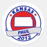 Kansas Ron Paul Round Stickers