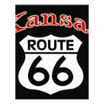 Kansas Route 66 Shield Letterhead