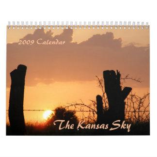 Kansas Sky Calendar 2009