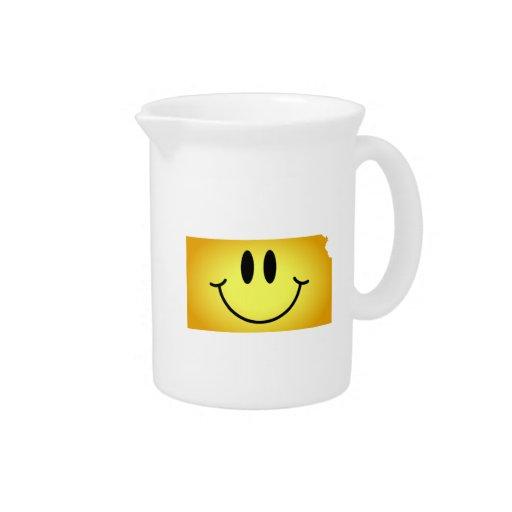 Kansas Smiley Face Drink Pitchers