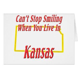 Kansas - sonriendo tarjeta