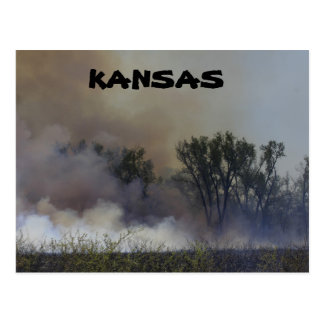 Kansas Spring Burning for New Plants Post Card