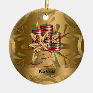 Kansas State Christmas Ornament