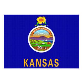 Kansas State Flag 2 png Cards