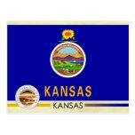 Kansas State Flag and Seal Postcard