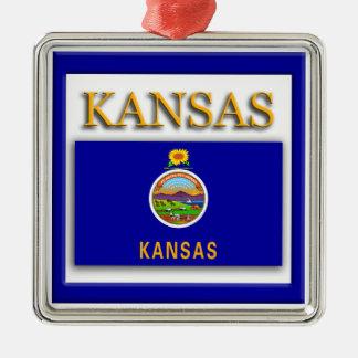 Kansas State Flag Christmas Ornament